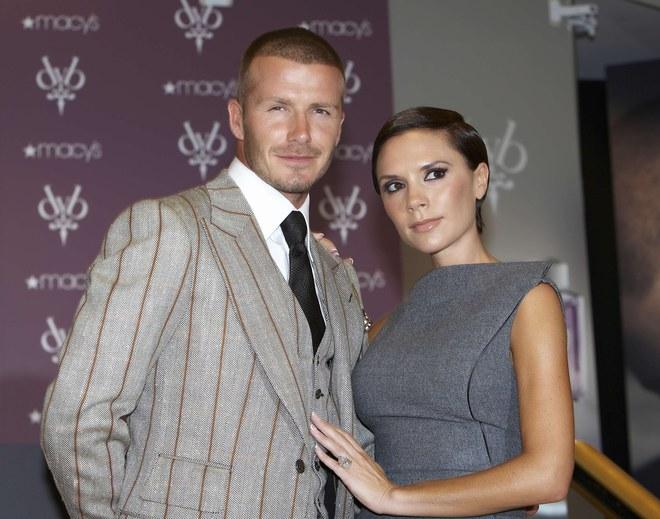 Victoria Beckham et David Beckham, 2008