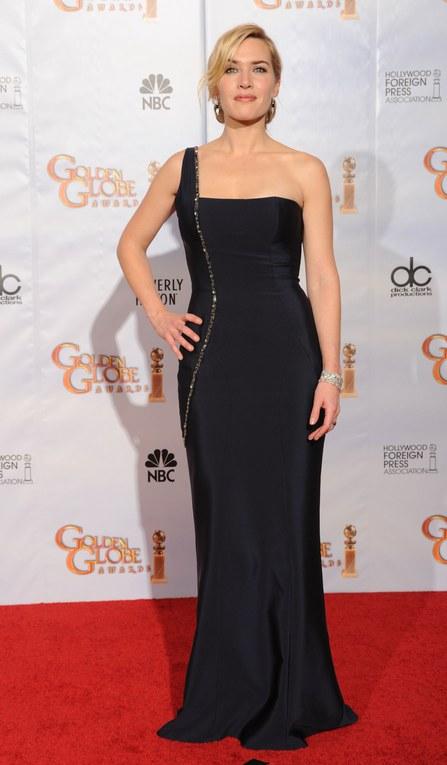 Kate Winslet, radiante con su vestido largo durante la ceremonia de los Globos de Oro