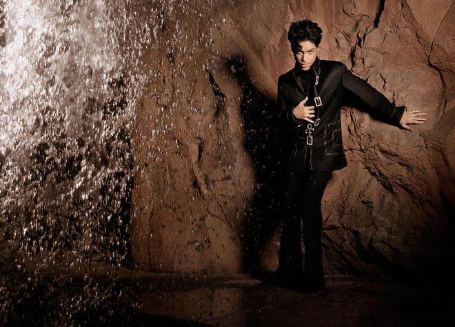 Prince posando en una gruta