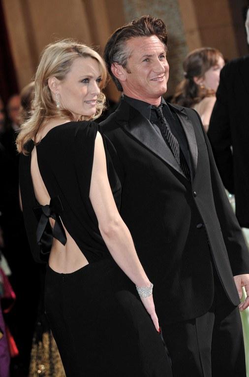 Sean Penn y su mujer Robin Wright en la 81 ceremonia de los Oscars - 2009