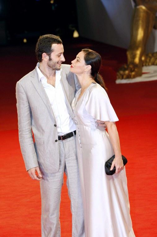 Emmanuelle Béart et Michael Cohen au festival du film de Venise-2008
