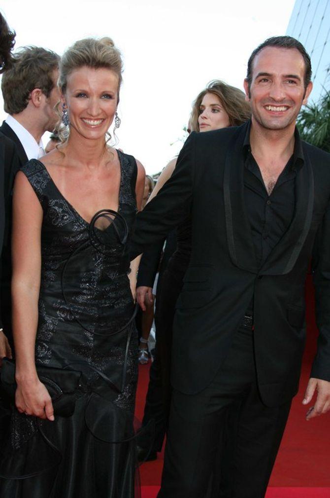 Jean Dujardin et sa femme Alexandra Lamy au Festival de Cannes-2007