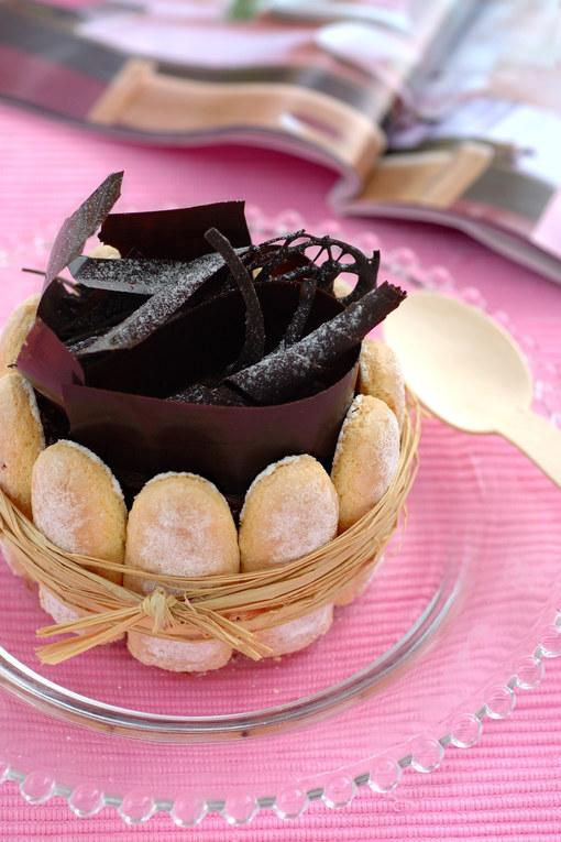 Charlotte au chocolat : recette de la charlotte au chocolat