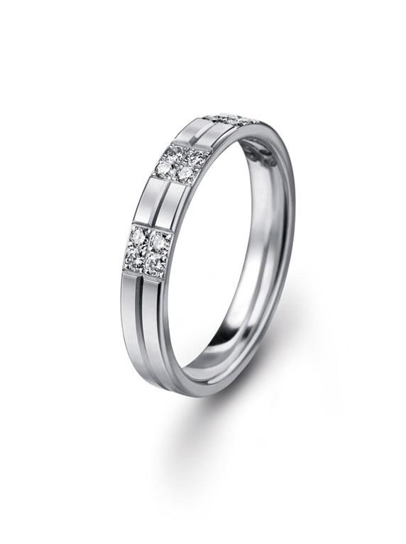 Alliance platine et 16 diamants