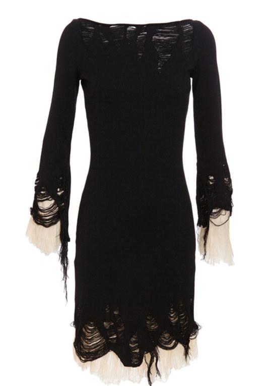 Gothic dress: Distressed knit dress