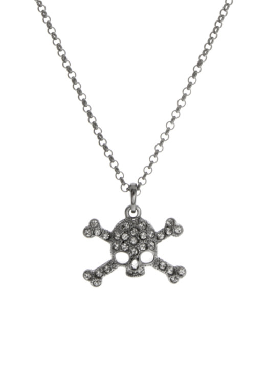 Gothic inspired jewellery: diamante skull necklace