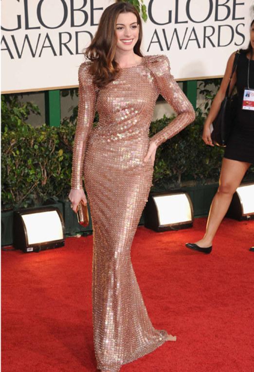 Golden Globes Best Dressed - Anne Hathaway