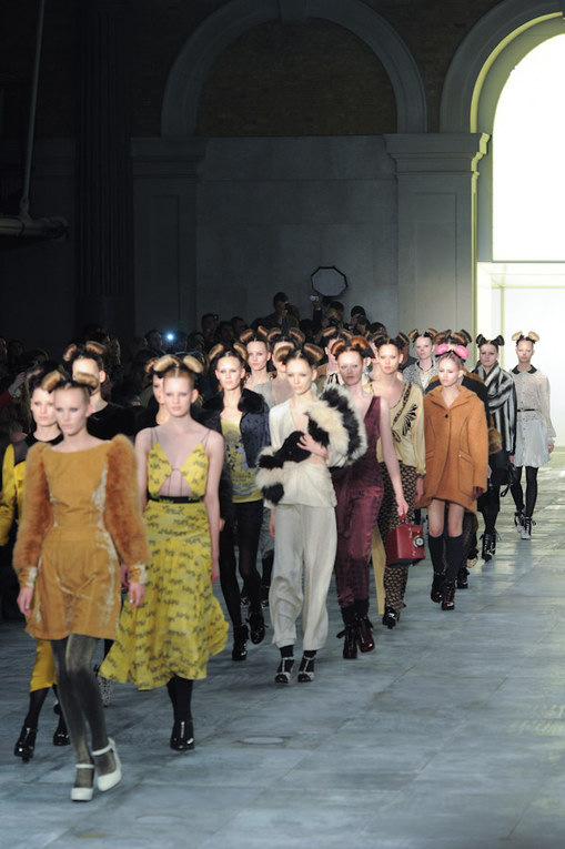 Unique auf der London Fashion Week Herbst/Winter 2011/12