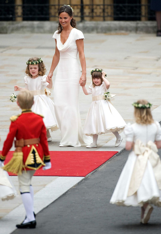 Pippa Middleton and the bridesmaids