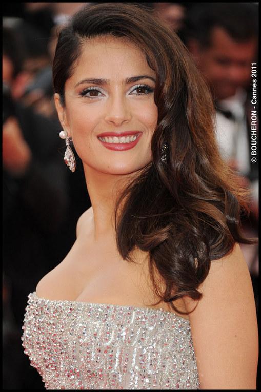 Salma Hayek Hairstyle, Cannes 2011