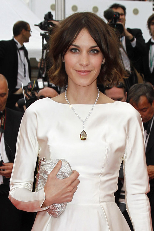 Alexa Chung hairstyle at Cannes 2011