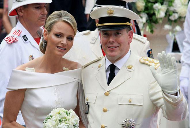 Alberto e Charlène marito e moglie