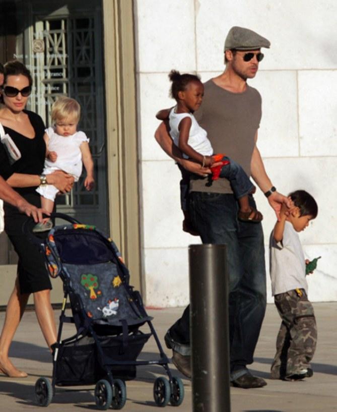 Brad Pitt e i papà star