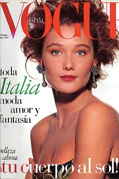 Carla Bruni en couverture de Vogue España