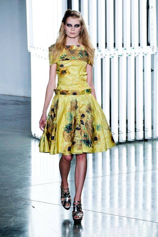 La sfilata Rodarte alla New York Fashion Week p-e 2012