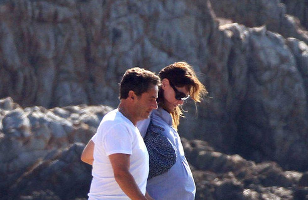 Carla Bruni enceinte, les photos