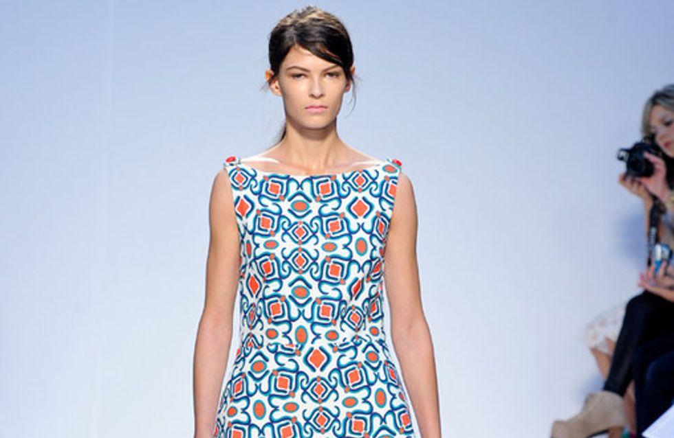 Sfilata Mila Schon p-e 2012 Milano Moda Donna