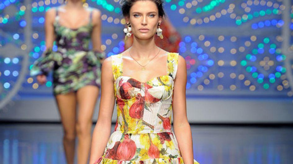 Sfilata Dolce & Gabbana p-e 2012 Milano Moda Donna
