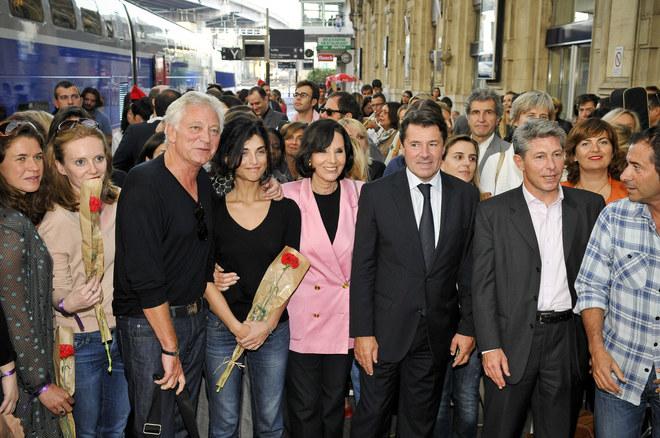 L'arrivée à Nice du train spécial Femmes en Or