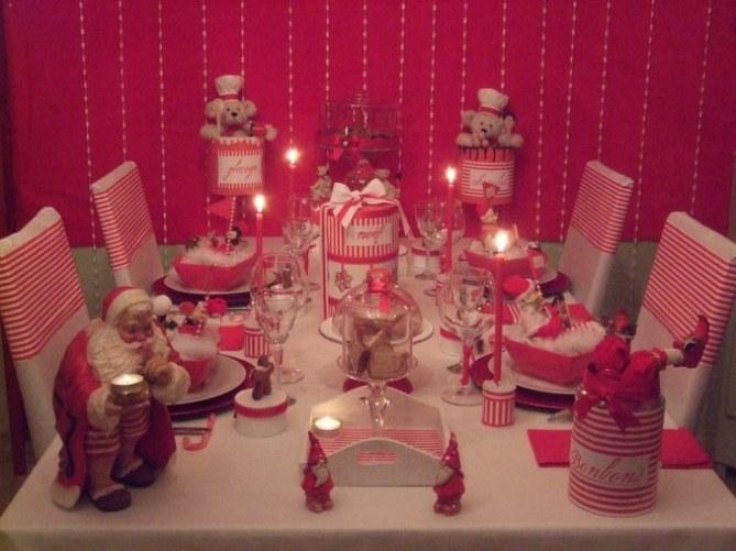 Déco de table de Noël en récup'