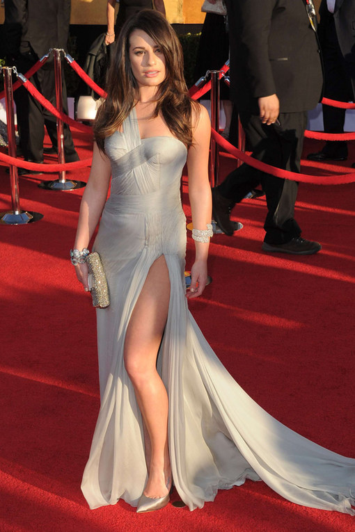 Lea Michele Screen Actors Guild Awards 2012