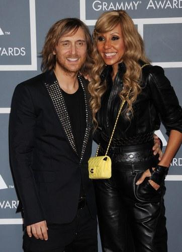 Cathy Guetta e David Guetta ai Grammy 2012