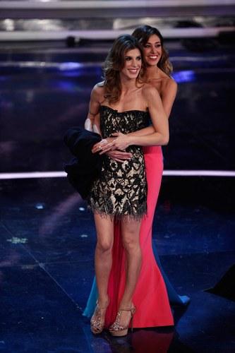 Elisabetta Canalis e Belen Rodriguez al Festival di Sanremo 2012