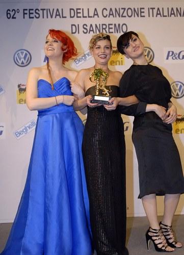Il podio: Noemi, Emma e Arisa