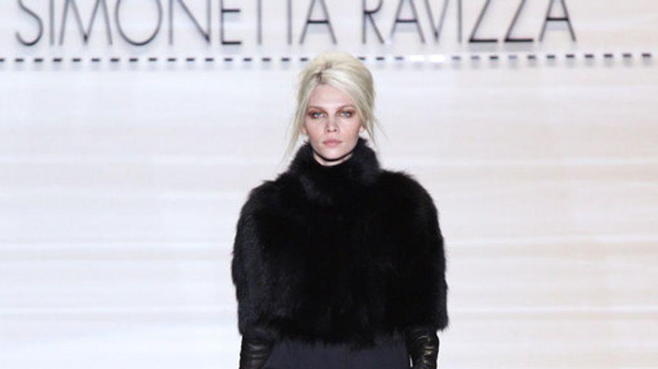 Elegant mit Pelz: Simonetta Ravizza auf der Fashion Week Mailand