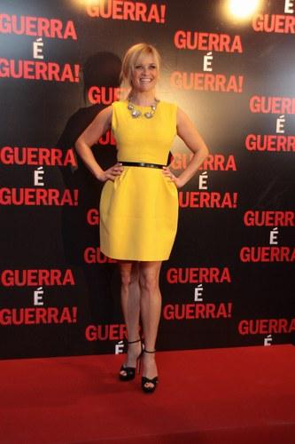 Reese Witherspoon alla prima di War is War (Una spia non basta) a Rio de Janeriro, 2012