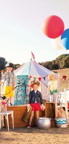 Inspiración circense en moda infantil