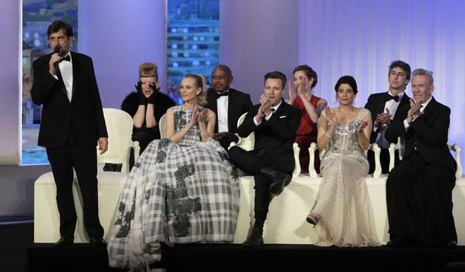 La serata di premiazione del 65°Festival del cinema di Cannes