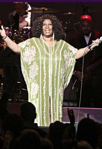 Aretha Franklin sul palco del Fox Theatre Atlanta, 2012