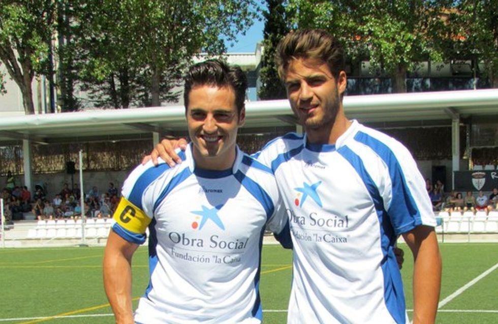 Maxi Iglesias y Bustamante, futbolistas por un día
