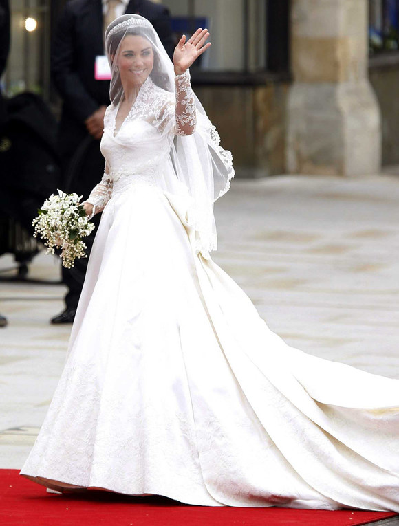 Celebrity wedding dresses: Kate Middleton