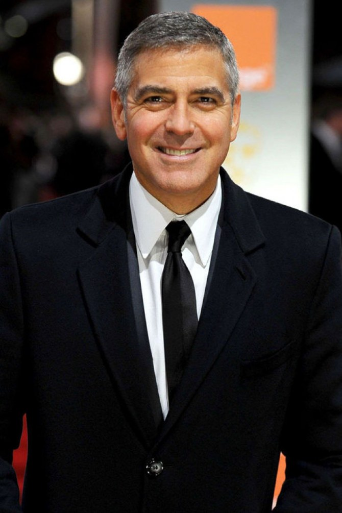 Celebrities with grey hair: George Clooney