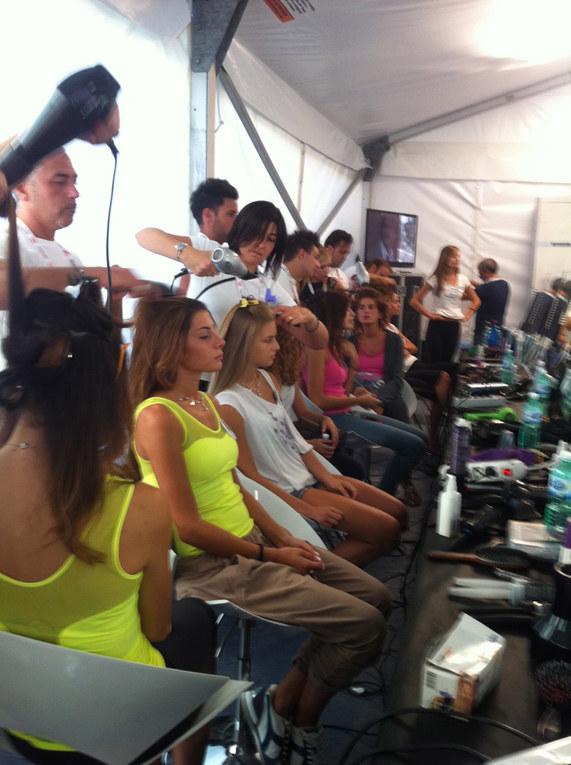 Le foto in esclusiva dal backstage di Miss Italia