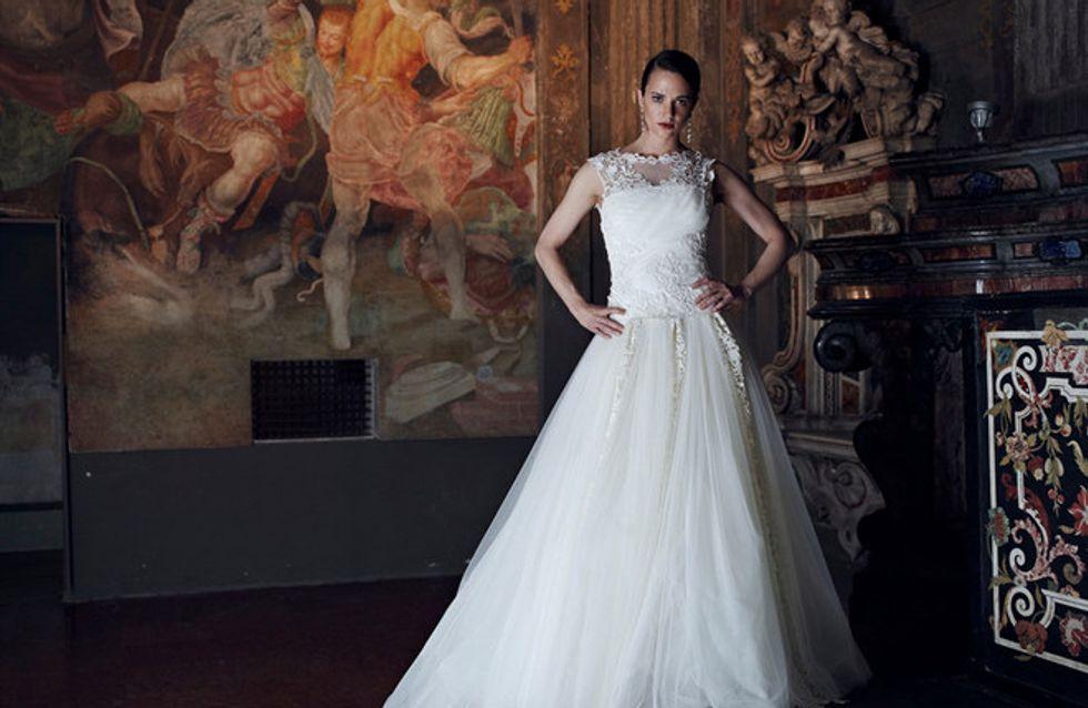 Asia Argento sposa per Alberta Ferretti