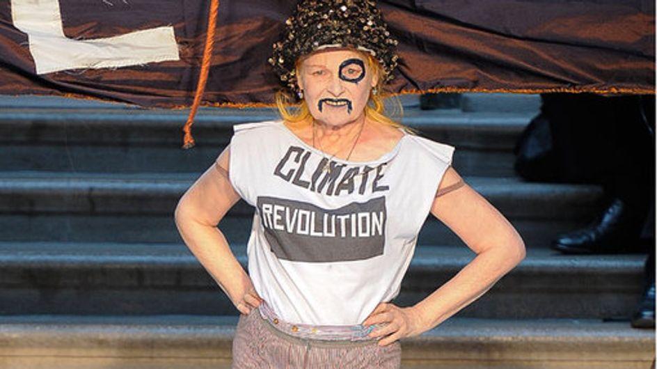 Klimakämpferin mit Schnurrbart: Vivienne Westwood in London