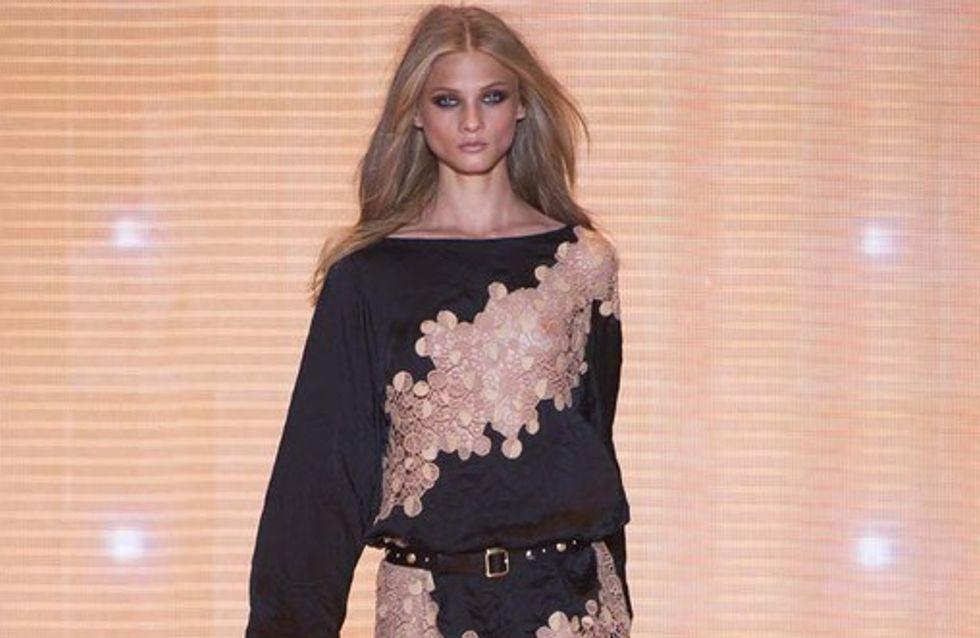 Sexy Beinschlitze! Versace zeigt Traumroben in Mailand