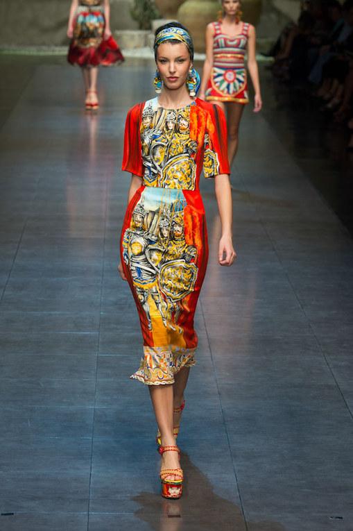 Défilé Dolce & Gabbana PAP Printemps-Eté Milan 2013