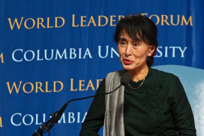 Aung San Suu Kyi alla Columbia University