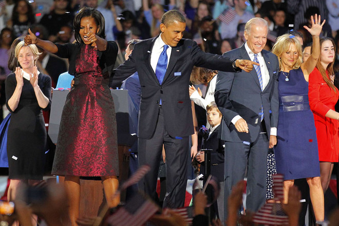 Barack Obama's re-election as US President in pictures