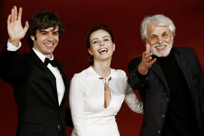 Il red carpet del Festival del Film di Roma 2012 - Violante Placido, Michele Placido, Luca Argentero