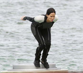 Jennifer Lawrence, le immagini dal set di Hunger Games Catching Fire