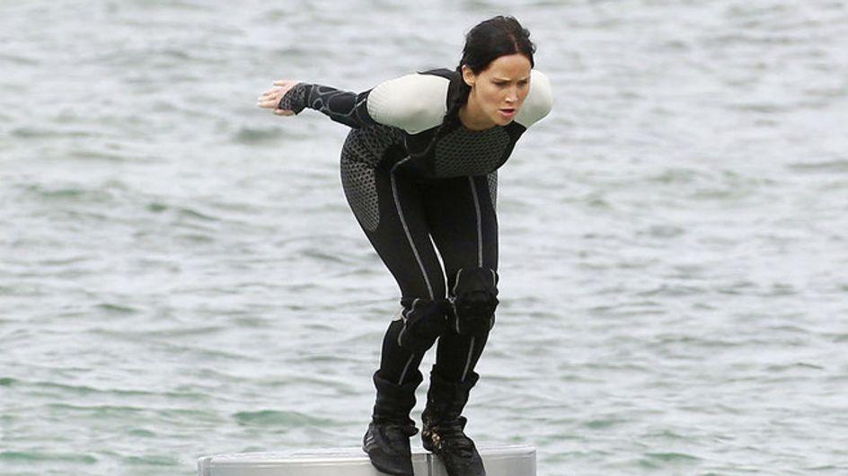 "Jennifer Lawrence, le immagini dal set di ""Hunger Games Catching Fire"""