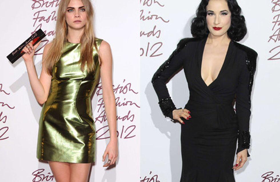 British Fashion Awards 2012: Who wore what?