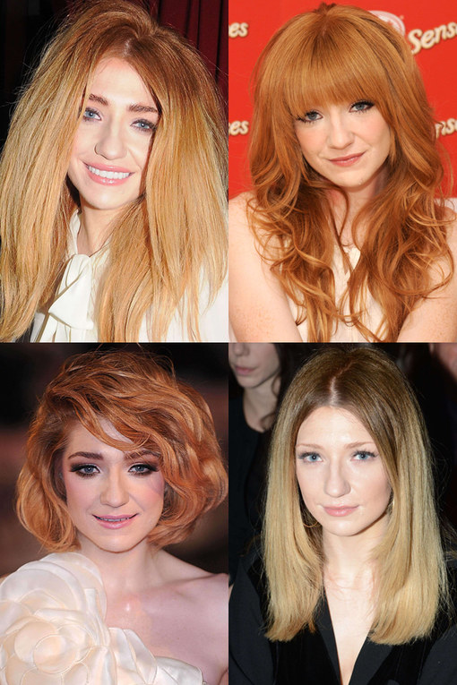 Nicola Roberts hair: Red hot style