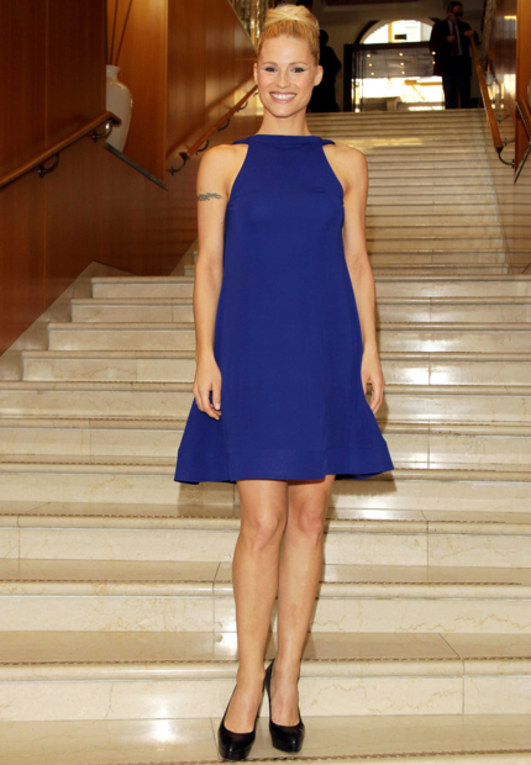 Le star sui red carpet: passione blu - Michelle Hunziker