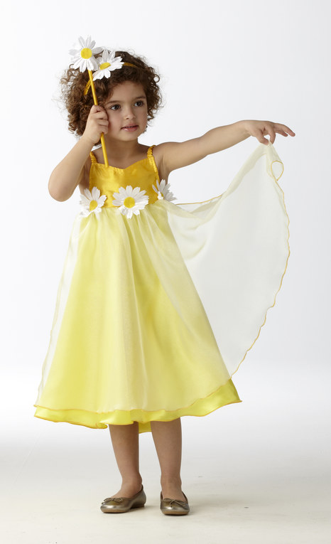 Déguisement de fée jaune